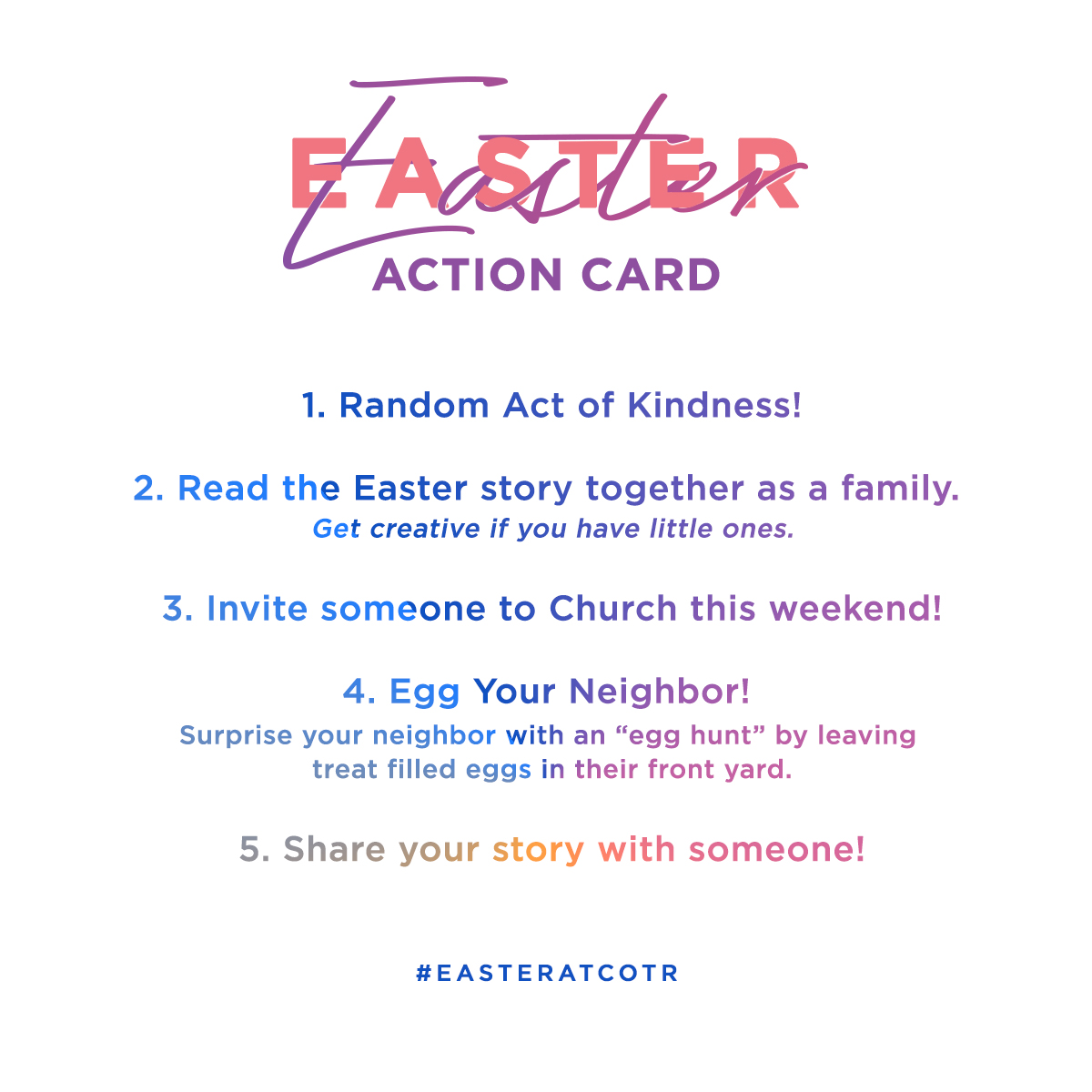 Easter Action Card