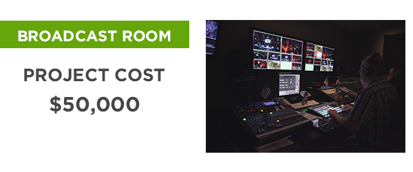 Church on the Rock's Broadcast Room Remodel - Project Cost: $50,000